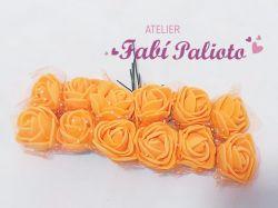 DI134 Mini rosas em EVA  laranja
