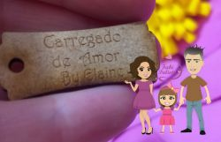 PI03 Pingente CARREGADO DE AMOR  + NOME