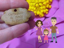 PI08 Pingente Tag 5 - CARREGADO DE AMOR   + NOME