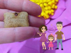 PI09 Pingente Tag 6 - CARREGADO DE AMOR   + NOME