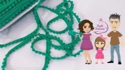 DI167  Fita Pompom Verde Natal  1 cm  de largura  - 2 metros