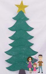G652 Gabarito de Moldes  em MDF Árvore de Natal para Parede 80cm