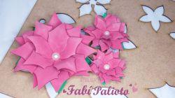 G671  Gabarito de Moldes Flor Natal 2  - 7, 9 e 15cm