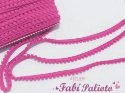 DI30  Fita Pompom Pink  1 cm  de largura  - 2 metros