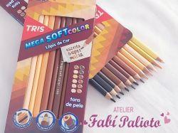 DI198  Caixa de lápis de Cor Tons de Pele TRIS